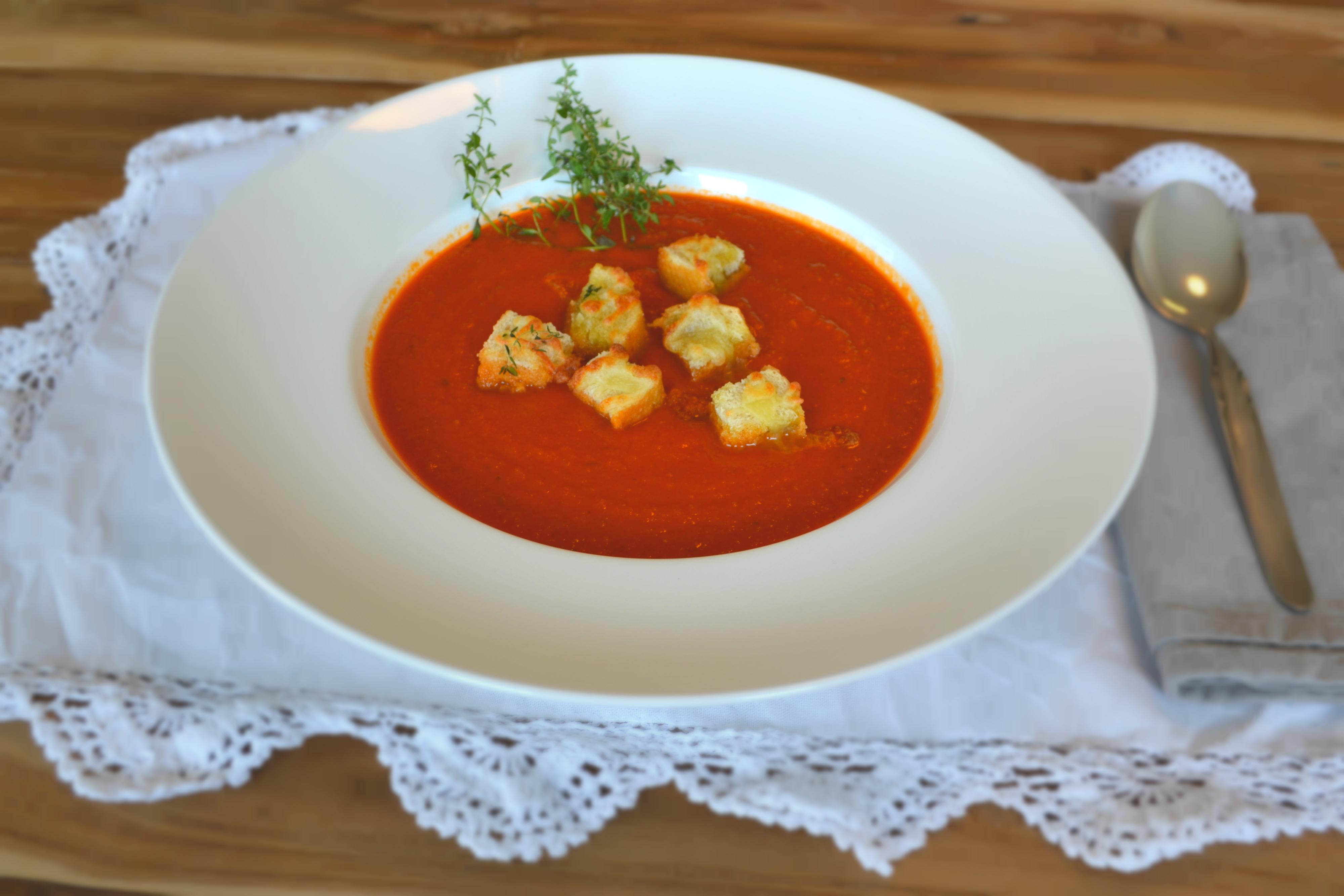 frische tomatensuppe rezept mit