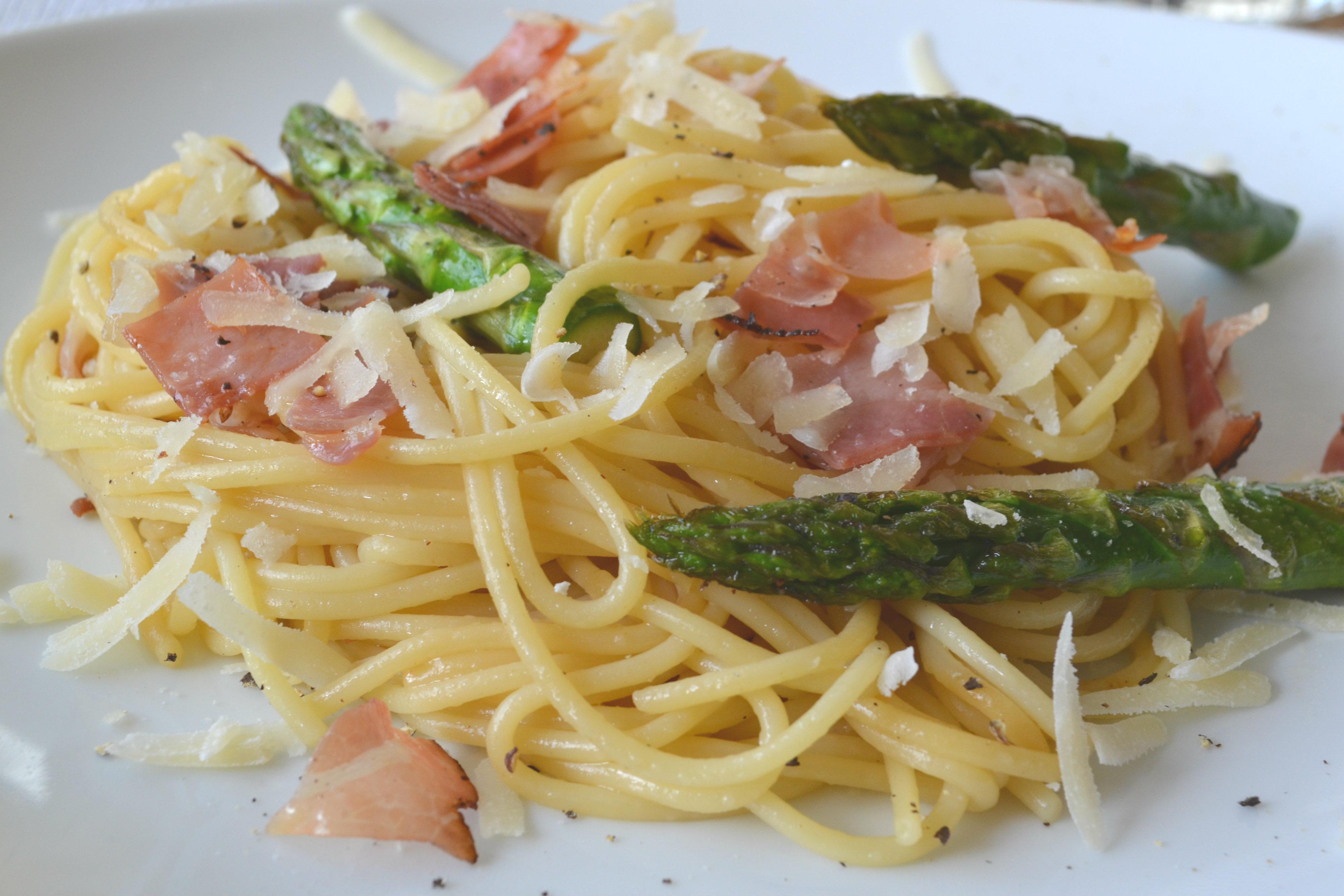 Spaghetti mit Spargel 2