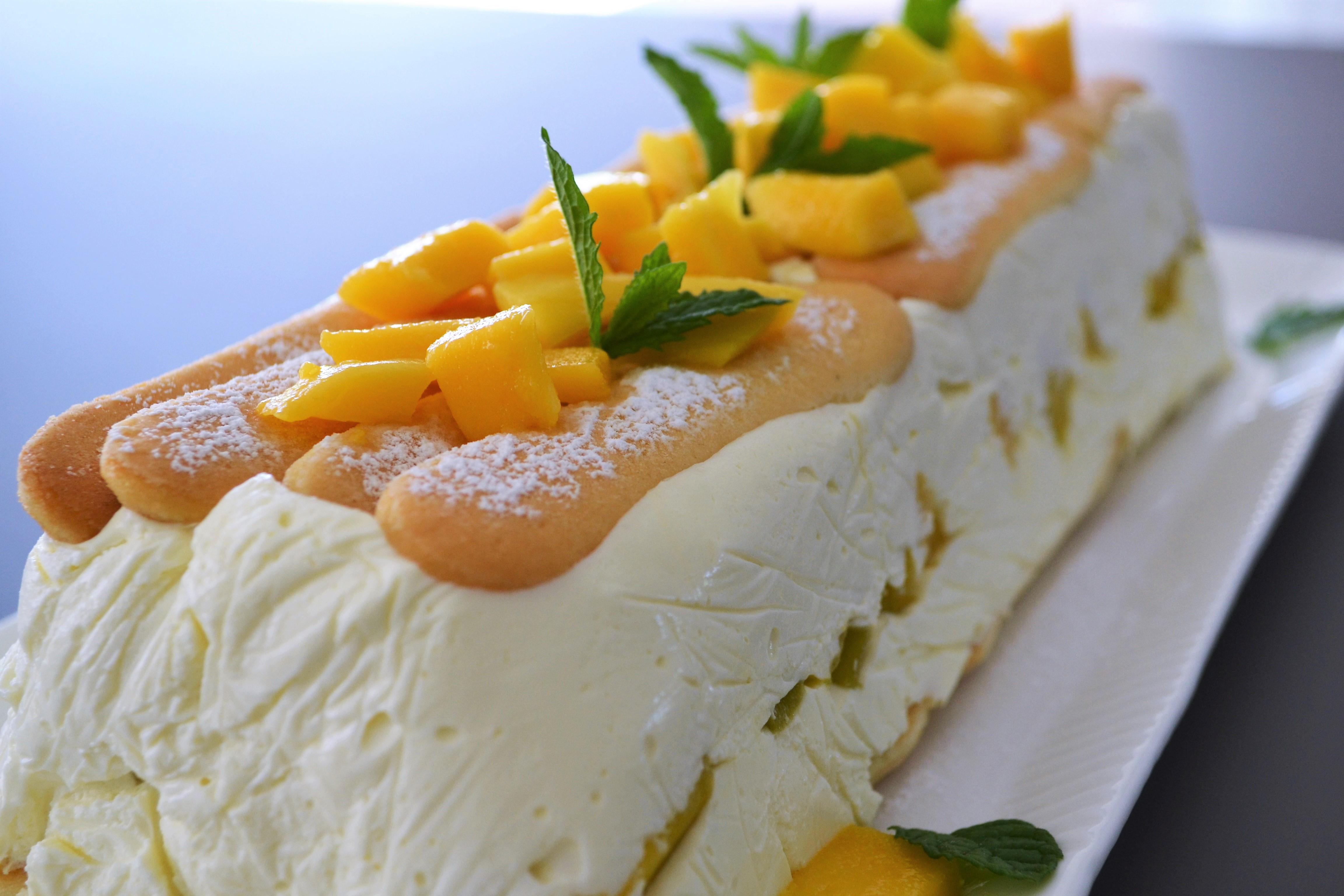 Mini Kühlschrank Für Kuchen : Frisch aus dem kühlschrank mango biskotten torte